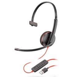 Auricular Plantronics blackwire C3210 monoaural usb Microsoft