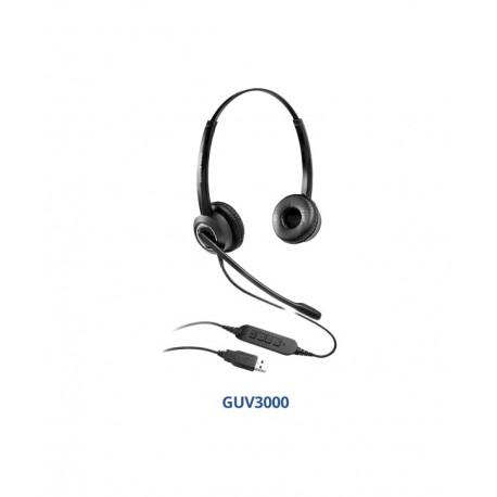 Grandstream GUV3000 auricular biaural USB-A 2.0