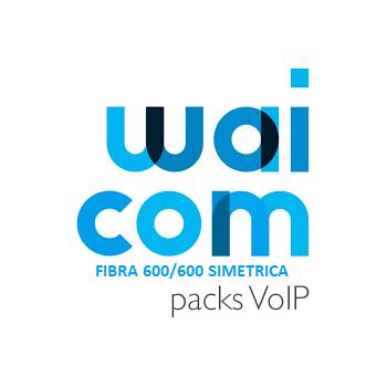 Pack VoIP Waicom 8MI con Fibra