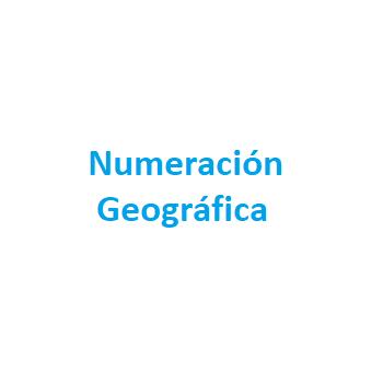 Numeración Geográfica
