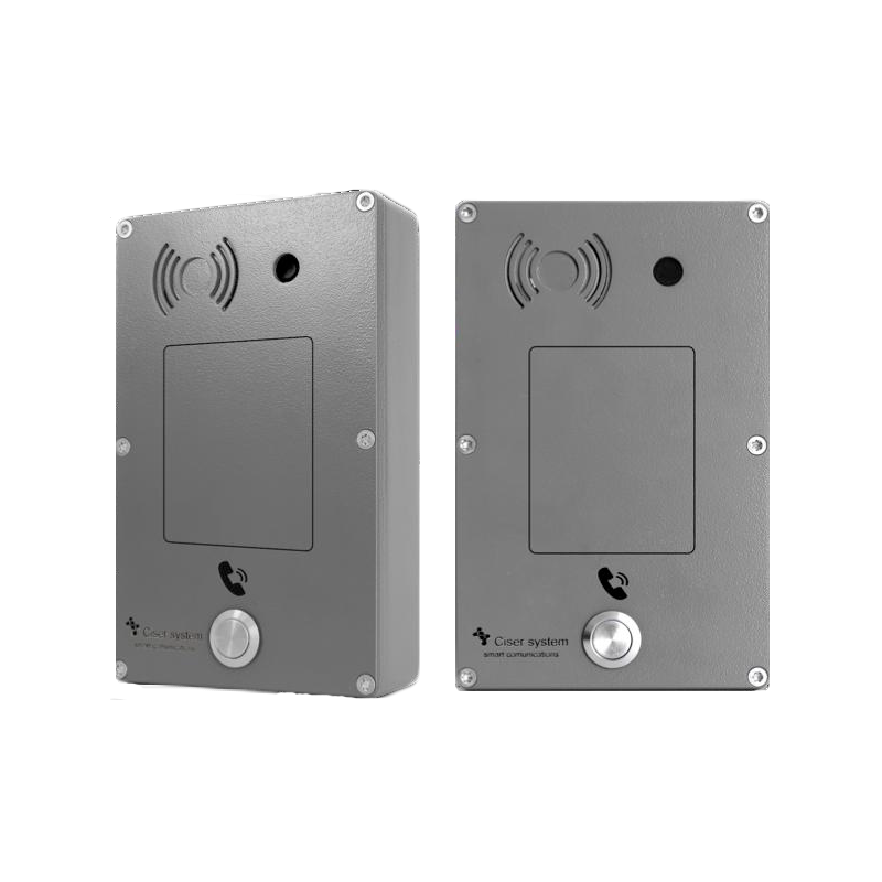 Portero Analogico Panphone Serie C de superficie 1 botón Gris