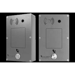 Portero Analogico Panphone Serie C de superficie 1 botón Gris Con camara color