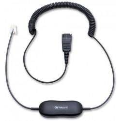 Cable GN Netcom Jabra GN1200 Smart code cable rizado 2 m. qd / rj9