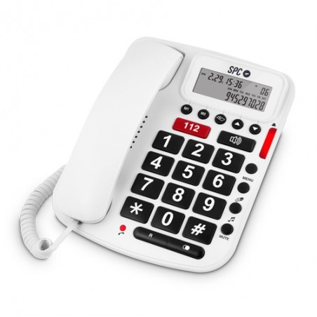 Telefono teclas grandes 3293 memoria directa 112 compatible con audifonos spc telecom