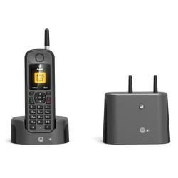Telefono inalambrico DECT Motorola O201 Negro IP67 Largo Alcance